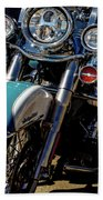 Harley Lights 1483 H_2 Beach Towel
