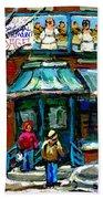 Achetez Les Meilleurs Scenes De Rue Montreal Boulangerie St Viateur Original Montreal Street Scenes  Beach Towel
