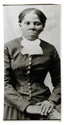 Harriet Tubman, American Abolitionist Beach Towel by Photo Researchers