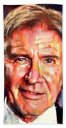 Harrison Ford Indiana Jones Portrait 2 Beach Towel