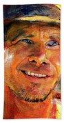 Harrison Ford Indiana Jones Portrait 3 Beach Towel