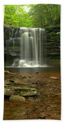 Harrison Wrights Falls In The Forest Beach Towel