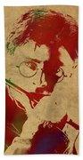 Harry Potter Watercolor Portrait Beach Sheet