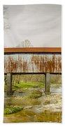 Harshaville Covered Bridge  Beach Towel
