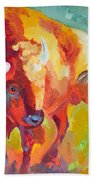 Hartsel Bison In Springtime Beach Towel