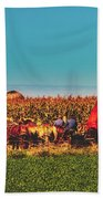 Harvest In Amish Country - Elkhart County, Indiana Beach Towel