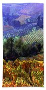 Harvest Time At The Vineyard Beach Towel