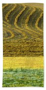 Harvested Fields Of The Palouse Beach Towel
