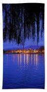 Harveston Lake At Night Beach Towel