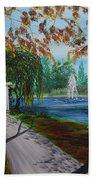 Harveston Lake Path Beach Towel