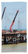 Hastings Pier, England Beach Towel