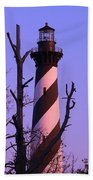Hatteras Light And Tree Beach Towel