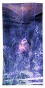 Haunted Caves Beach Towel by Linda Sannuti