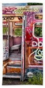 Haunted Graffiti Art Bus Beach Towel