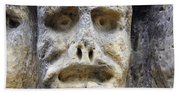 Haunted Stone Heads Beach Sheet