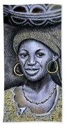 Hausa Maiden  Beach Towel