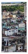 Havana Cityscape Beach Towel