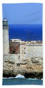 Havana Harbor Lighthouse Beach Towel