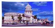 Havana National Capitol Beach Towel