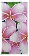 Hawaii An Tropical Plumeria Flower #338 Beach Sheet