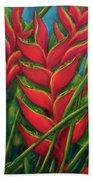 Hawaii Heliconia Flowers #445 Beach Sheet