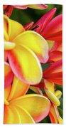 Hawaii Plumeria Flowers In Bloom Beach Towel