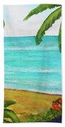 Hawaii Tropical Beach Art Prints Painting #418 Beach Towel