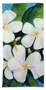 Hawaii Tropical Plumeria Flower  # 220 Beach Towel