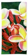 Hawaii Tropical Plumeria Flower #205 Beach Towel