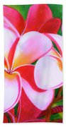 Hawaii Tropical Plumeria Flower #212 Beach Towel