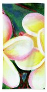 Hawaii Tropical Plumeria Flower #213 Beach Towel