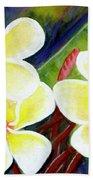 Hawaii Tropical Plumeria Flower #298, Beach Towel