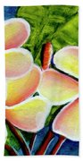 Hawaii Tropical Plumeria  Flower #314 Beach Towel