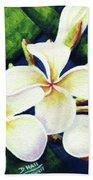 Hawaii Tropical Plumeria Flowers #160 Beach Towel