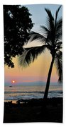 Hawaiian Big Island Sunset  Kailua Kona  Big Island  Hawaii Beach Towel