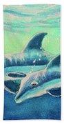 Hawaiian Dolphins  #389 Beach Towel