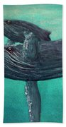Hawaiian Humpback Whales #455 Beach Towel