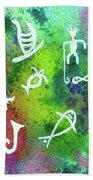 Hawaiian Petroglyph Prints #219 Beach Sheet