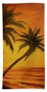 Hawaiian Sunset #380 Beach Towel