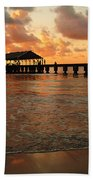 Hawaiian Sunset Hanalei Bay 1 Beach Towel