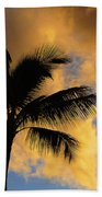 Hawaiian Sunset Hanalei Bay 5  Beach Towel