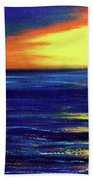 Hawaiian Sunset With Hula Dance  #183, Beach Towel