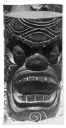 Hawaiian Tiki God Ku Beach Towel