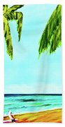 Hawaiian Tropical Beach #367  Beach Towel