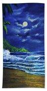 Hawaiian Tropical Ocean Moonscape Seascape #377 Beach Sheet