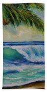Hawaiian Tropical Wave Art Print Painting #424 Beach Sheet