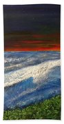Hawiian View Beach Towel by Michael Cuozzo