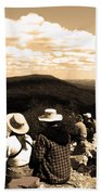 Hawk Mountain In Sepia Beach Towel