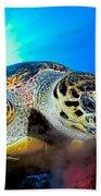 Hawksbill Turtle Beach Towel