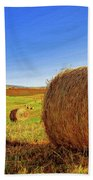 Hay Bales Beach Towel by Dominic Piperata